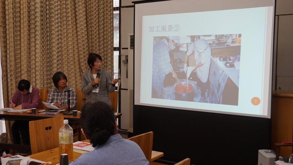 先輩女性農業者として、グループで農産加工に取り組んでいる「レインボーグループ」山梶久美子さん